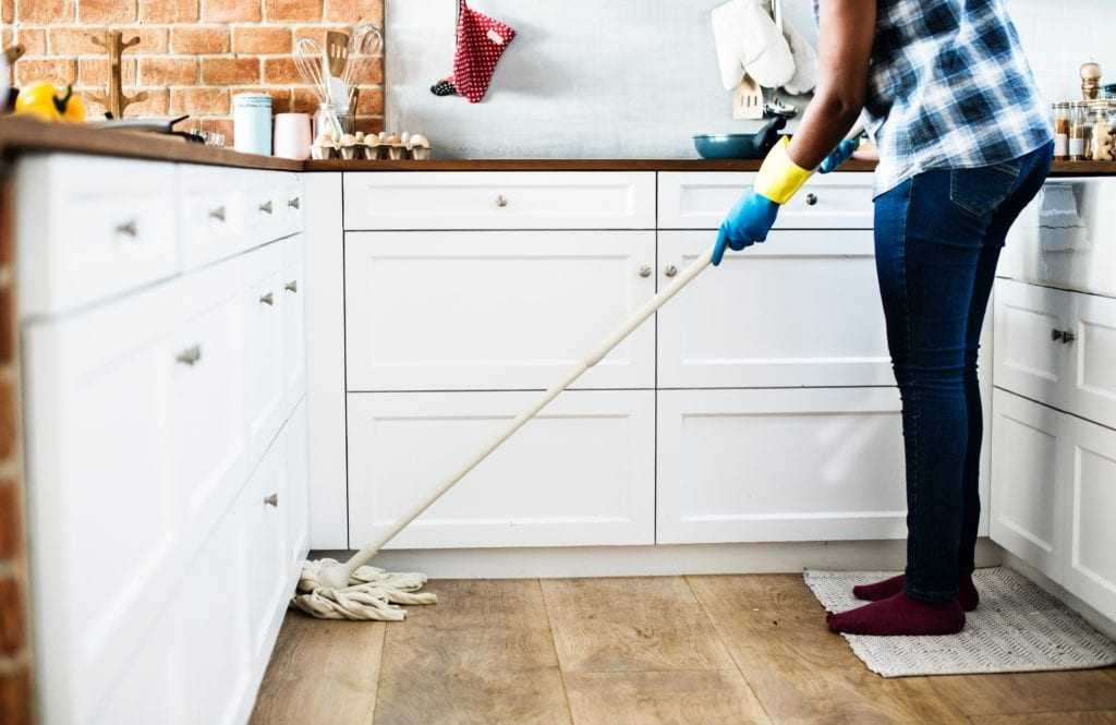 mopping person for probiotic eco cleaning products blog