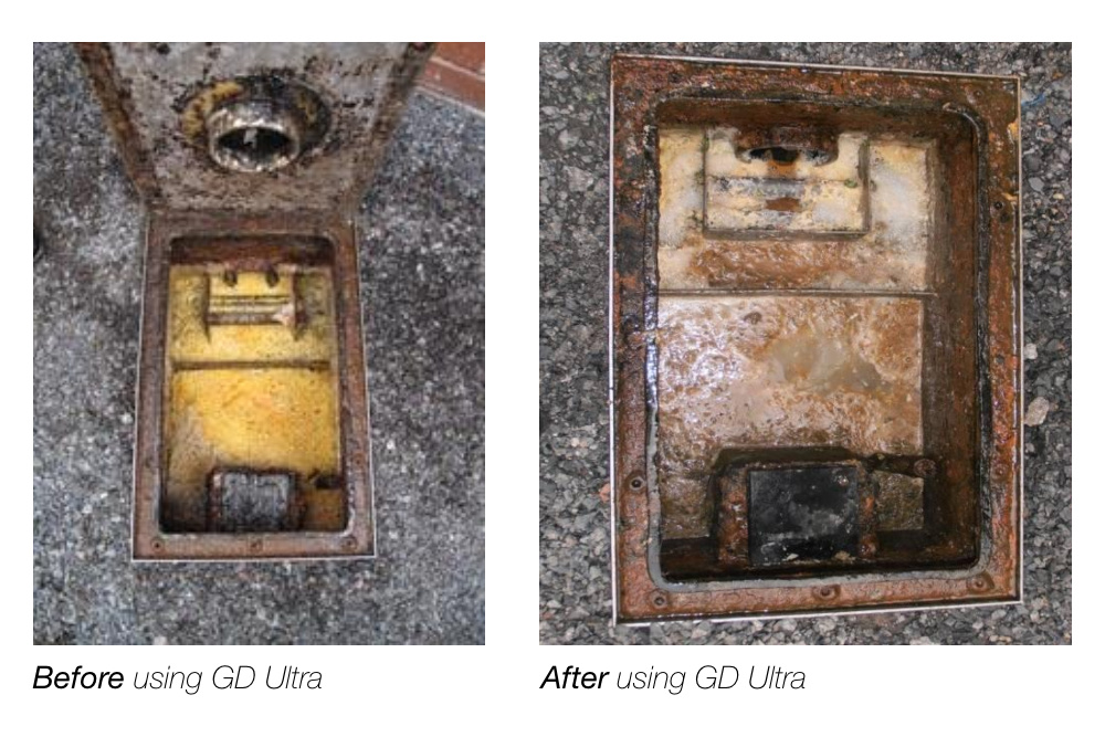Before and after using GD Ultra photo